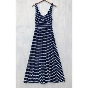Anthropologie Puella scribble stripe maxi dress M